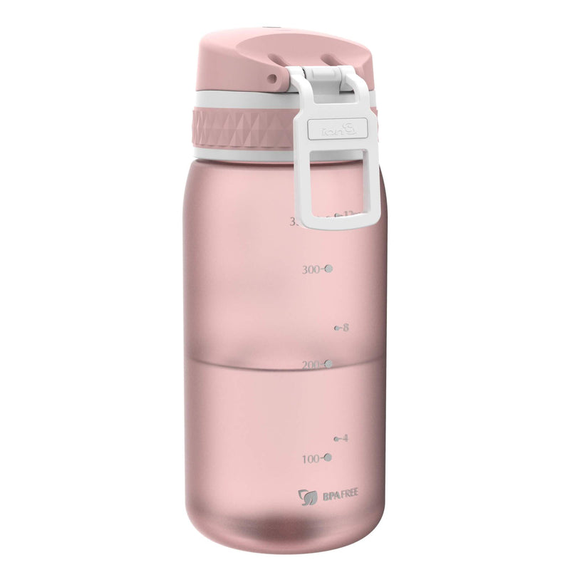 Ion8 Leak Proof Kids' Water Bottle, BPA Free, Blush Pink, 350ml