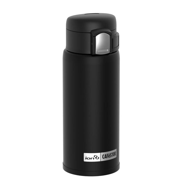 Ion8 CaféStor Leak Proof Thermal Insulated Stainless Steel Travel Mug, 360ml / 12oz, Black
