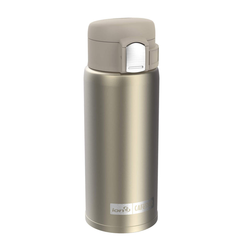 Ion8 CaféStor Leak Proof Thermal Insulated Stainless Steel Travel Mug, 360ml / 12oz, Gold