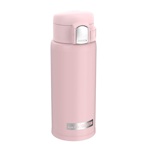 Ion8 CaféStor Reusable Cup, Vacuum Insulated, Pink, 360ml