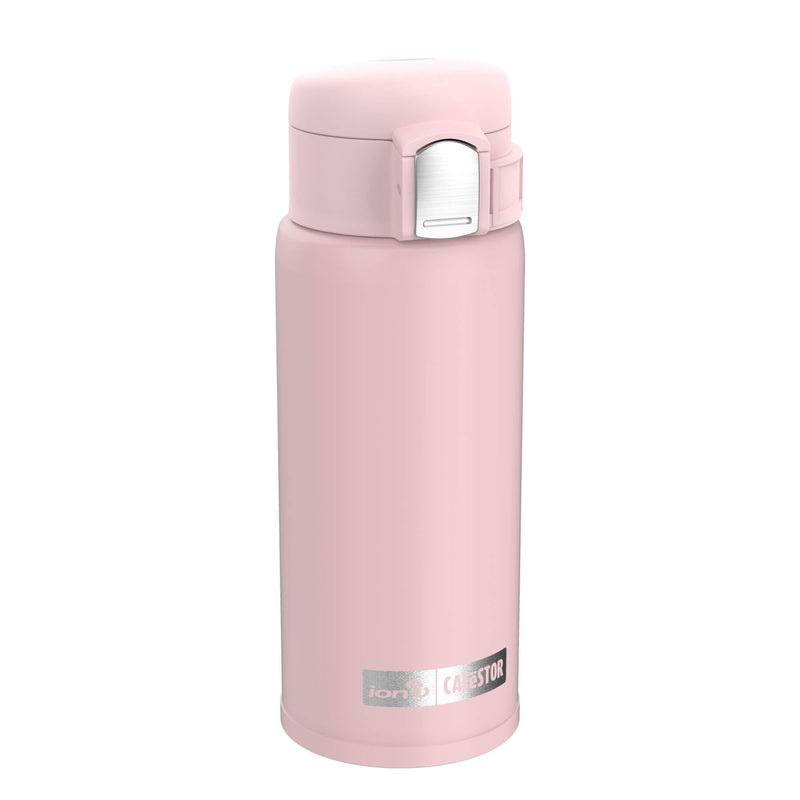 Ion8 CaféStor Leak Proof Thermal Insulated Stainless Steel Travel Mug, 360ml / 12oz, Pink