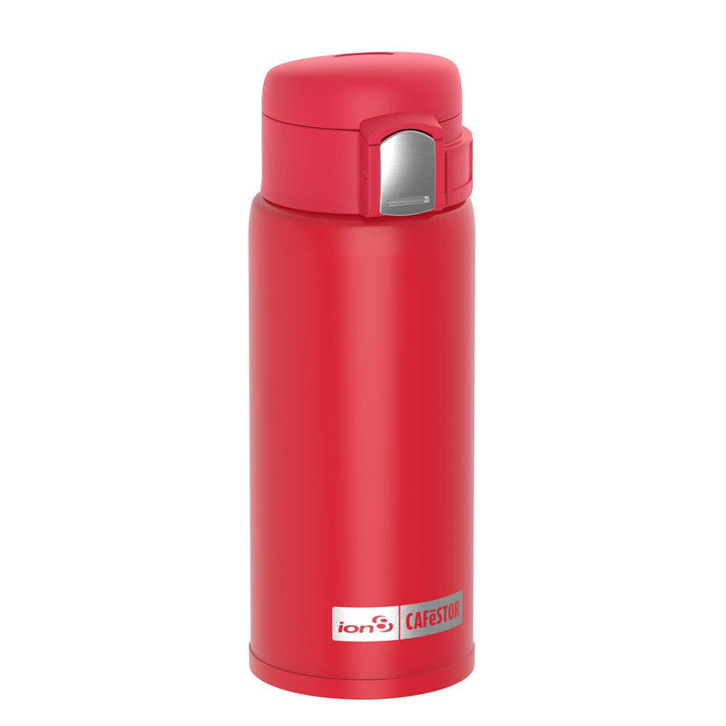 Ion8 CafeStor Reusable Cup, Vacuum Insulated, Red, 360ml