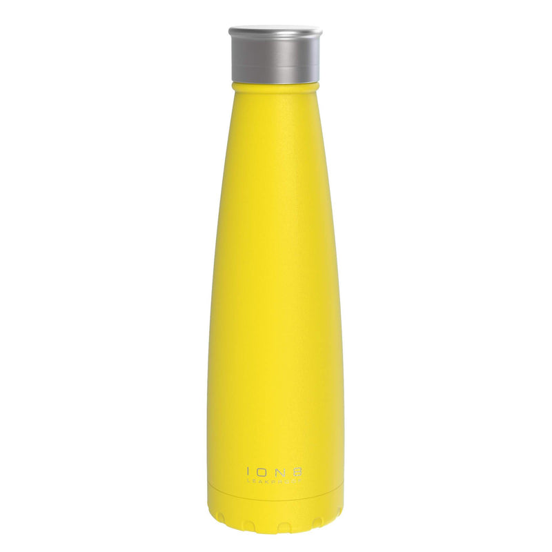Ion8 Leak Proof Steel Vacuum Flask / Water Bottle, 450ml / 15oz, Meadowlark - Leakproof.co.uk