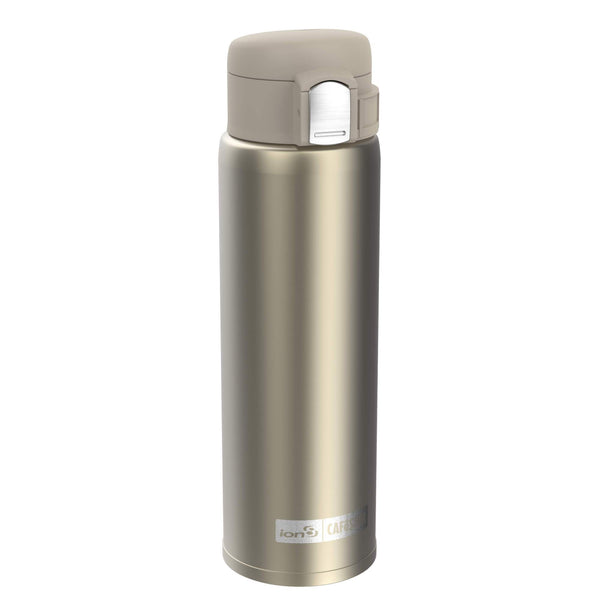 Ion8 CaféStor Leak Proof Thermal Insulated Stainless Steel Water Bottle, 480ml / 16oz, Gold