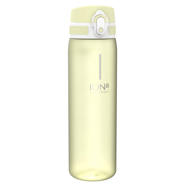 Ion8 Beauty Leak Proof Water Bottle, BPA Free, 500ml / 18oz, Frosted Lemon