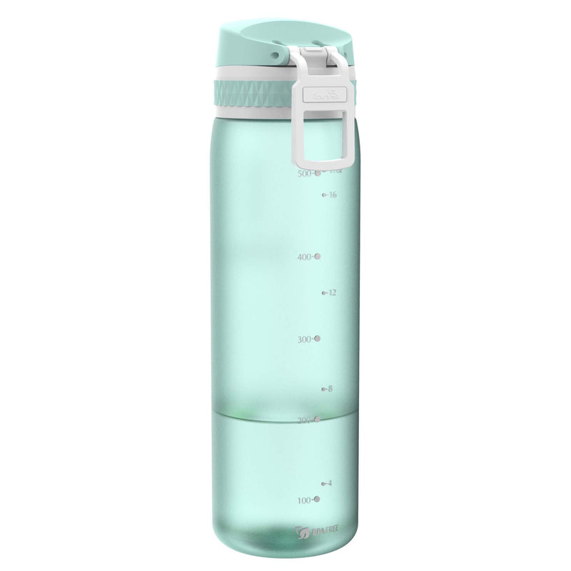 Ion8 Beauty Leak Proof Water Bottle, BPA Free, 500ml / 18oz, Frosted Mint