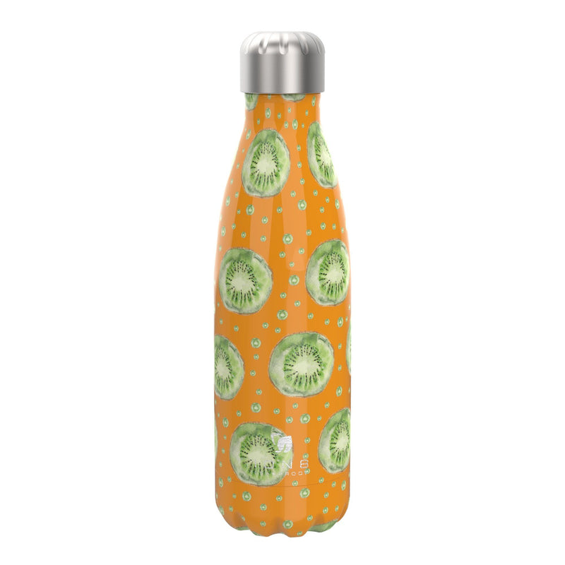 Ion8 Leak Proof Steel Vacuum Flask / Water Bottle 500ml / 17oz, Kiwi Fruit