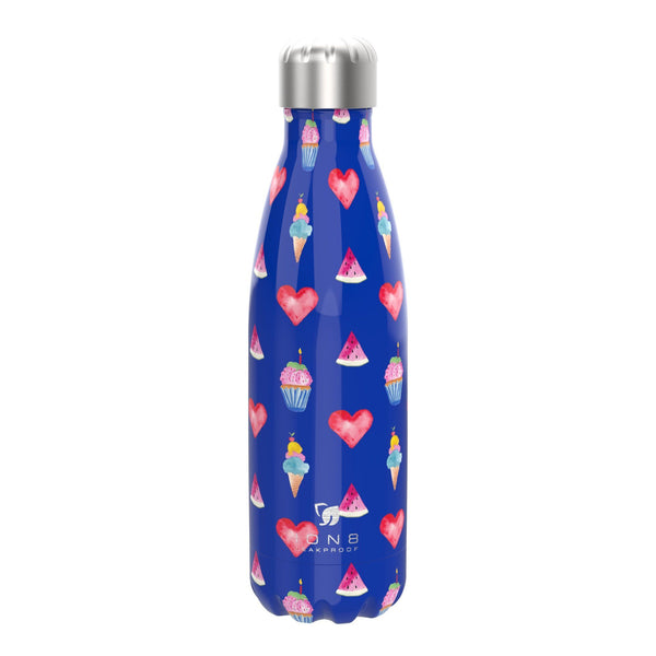 Ion8 Leak Proof Steel Water Bottle, Vacuum Insulated, Blue Party, 500ml