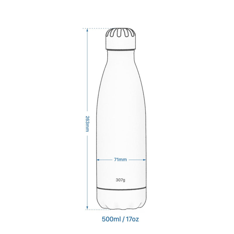 Ion8 Leak Proof Steel Water Bottle, Vacuum Insulated, Party, 500ml