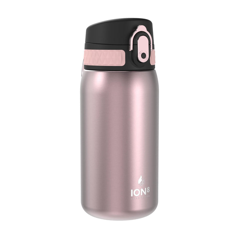 Ion8 Leak Proof Steel Water Bottle, Vacuum Insulated, Rose, 320ml