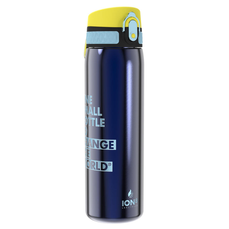 Ion8 Leak Proof Steel Water Bottle, Vacuum Insulated, Sapphire Blue, 500ml
