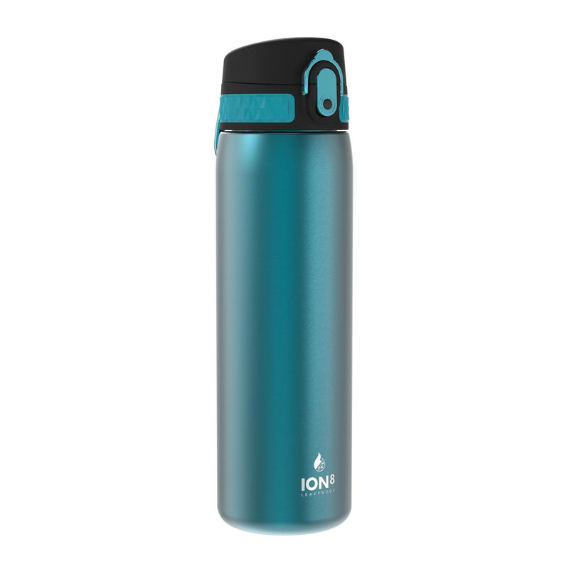 Ion8 Leak Proof Steel Water Bottle, Vacuum Insulated, Aqua, 500ml