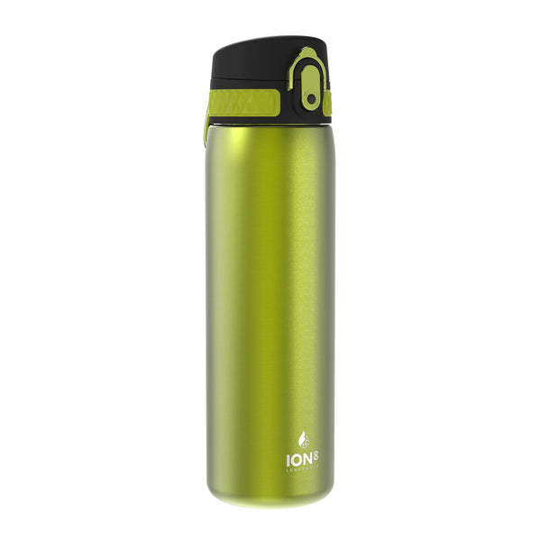 Ion8 Leak Proof Steel Water Bottle, Vacuum Insulated, Green, 500ml