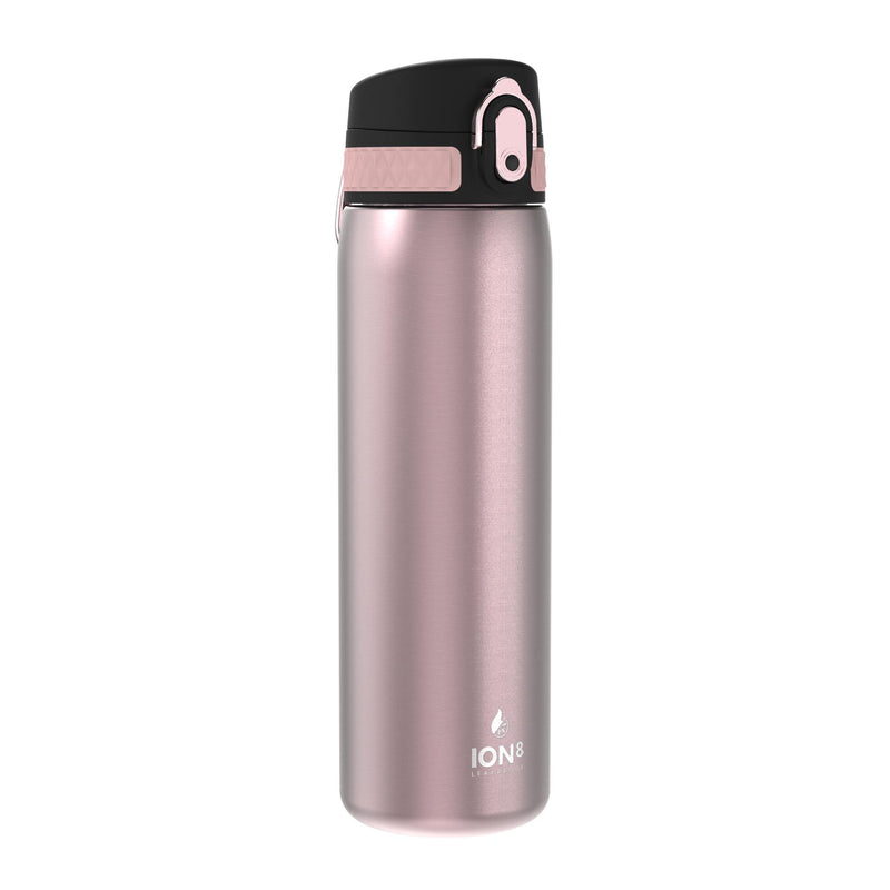 Ion8 Leak Proof Steel Water Bottle, Vacuum Insulated, Rose, 500ml