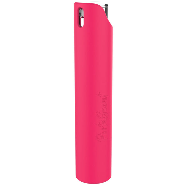 PortaScent Easy Refill Travel Perfume Atomiser Spray, Lockable, Hot Pink