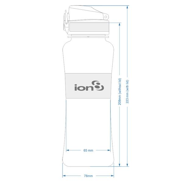Ion8 Leak Proof Sports Water Bottle, 550ml / 20oz, Navy & Lime - Leakproof.co.uk