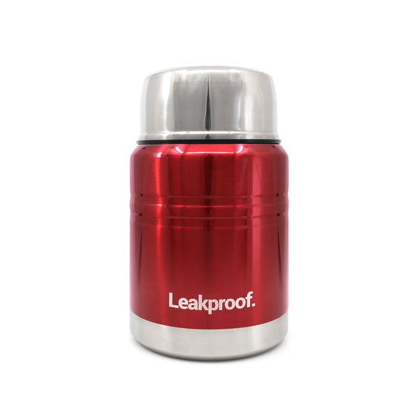 Ion8 Leak Proof Food Flasks For Hot Food, 500ml, Metallic Red