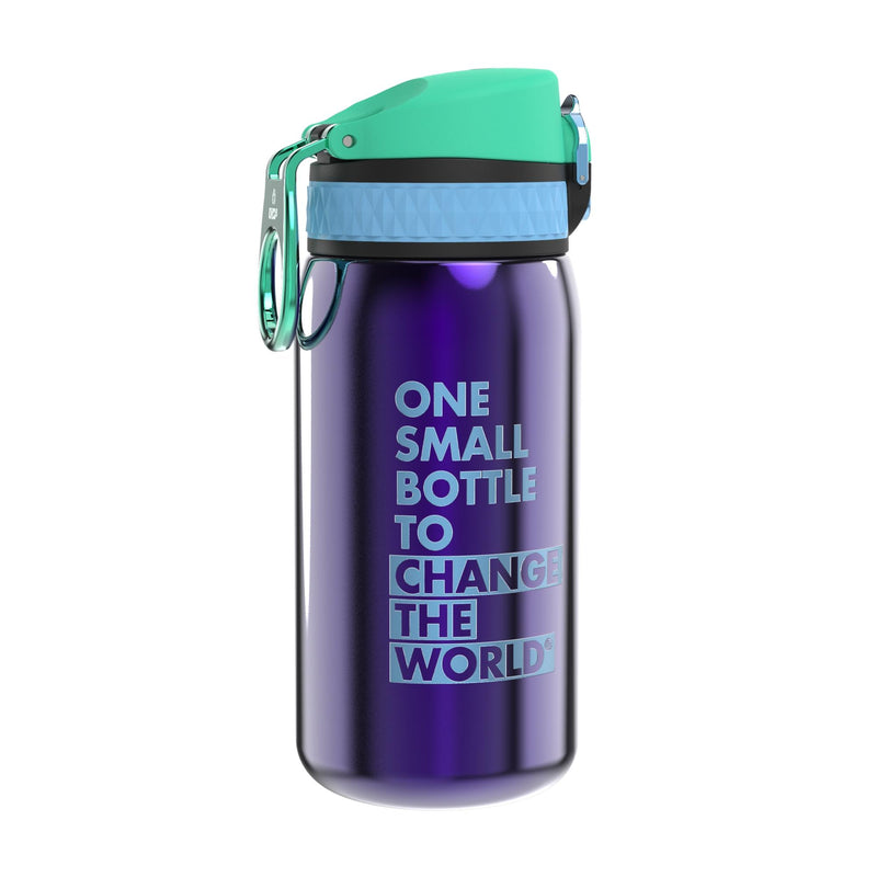 Ion8 Leak Proof Steel Water Bottle, Vacuum Insulated, African Violet, 320ml