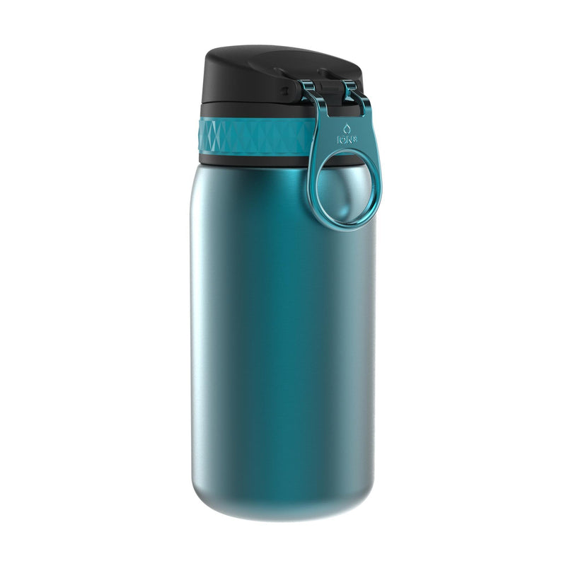 Ion8 Leak Proof Steel Water Bottle, Vacuum Insulated, Aqua, 320ml