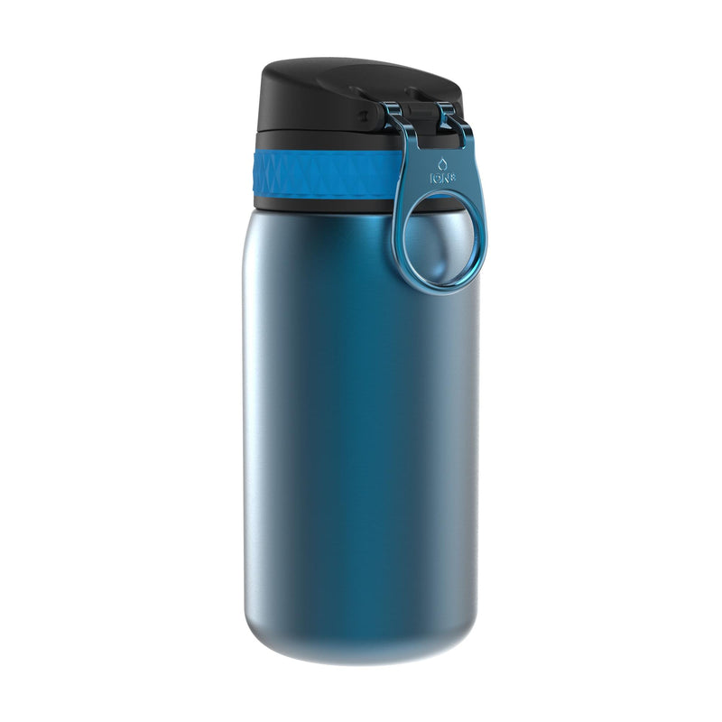 Ion8 Leak Proof Steel Water Bottle, Vacuum Insulated, Blue, 320ml