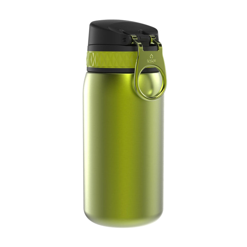 Ion8 Leak Proof Steel Water Bottle, Vacuum Insulated, Green, 320ml