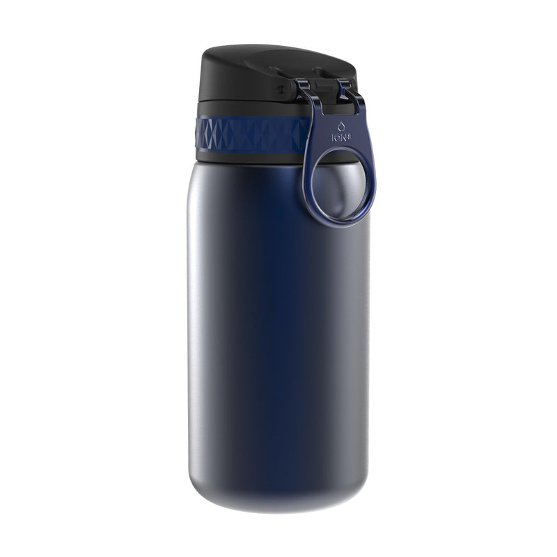 Ion8 Leak Proof Steel Water Bottle, Vacuum Insulated, Navy, 320ml