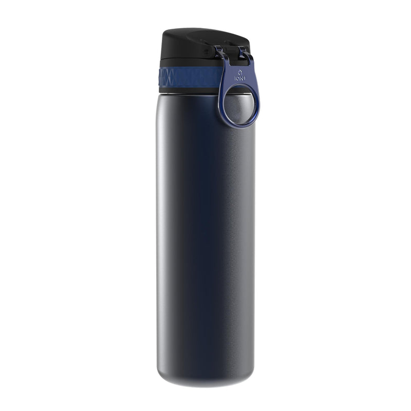 Ion8 Leak Proof Steel Water Bottle, Vacuum Insulated, Navy, 500ml