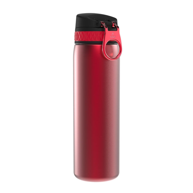 Ion8 Leak Proof Steel Water Bottle, Vacuum Insulated, Red, 500ml
