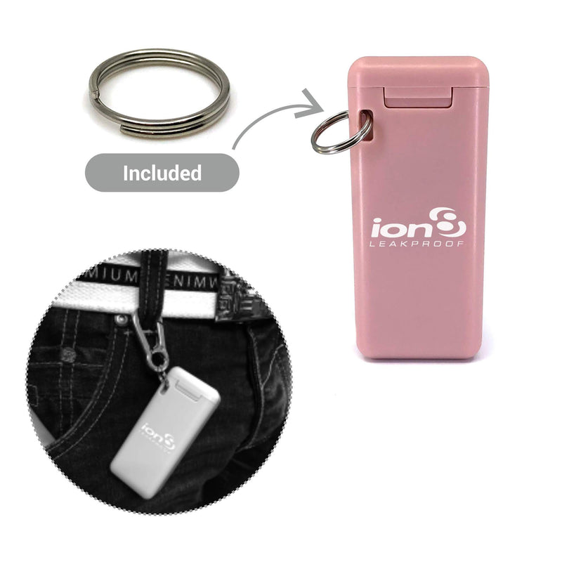 Ion8 Beauty Collapsible Reusable Stainless Steel Drinking Straw with Travel Case, Pink