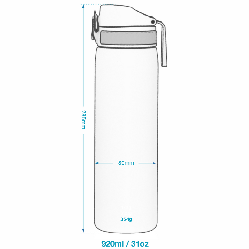 Ion8 Leak Proof 1 litre Steel Water Bottle, Vacuum Insulated, Grey
