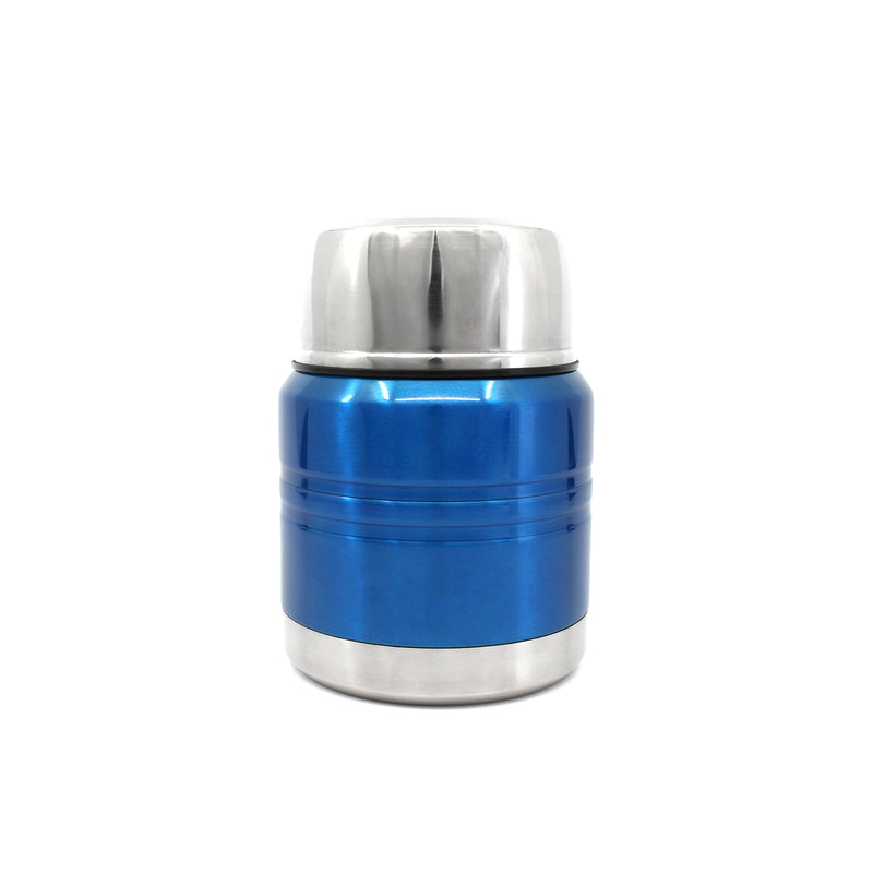 Ion8 Leak Proof Food Flasks For Hot Food Kids, 350ml, Metallic Blue