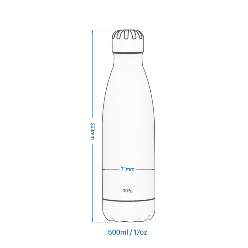 Ion8 Leak Proof Steel Water Bottle, Vacuum Insulated, Sparkling Grey, 500ml