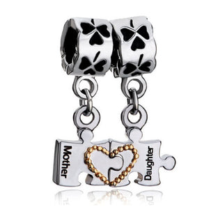 Pandora style charm Mother Daughter Irish