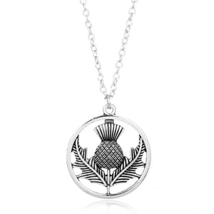 Outlander Scottish National Flower Pendant Necklace
