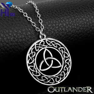 Outlander Trinity Triangle Knot Pendant Necklace