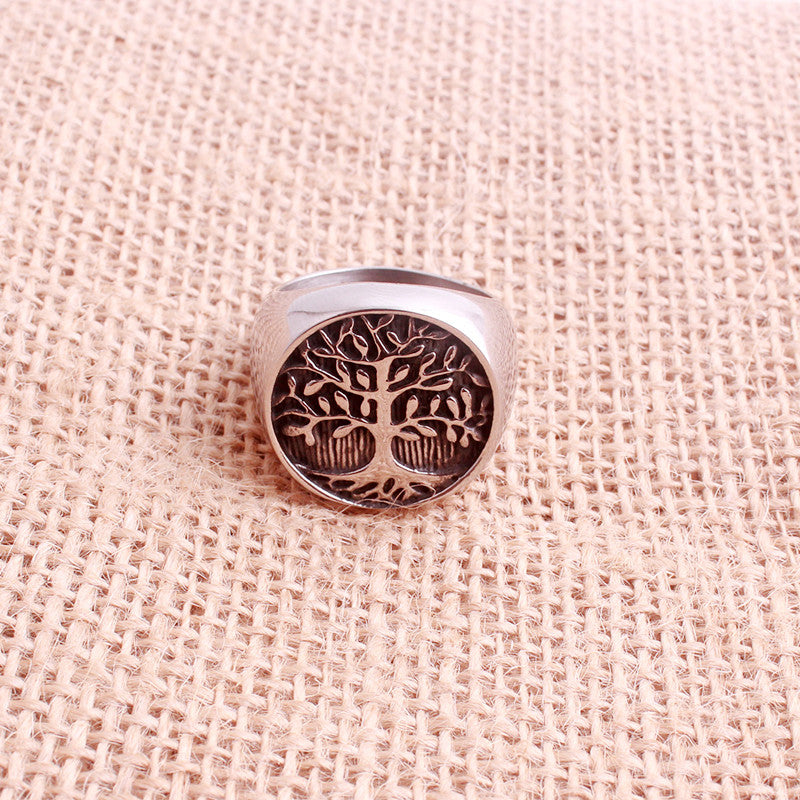 Life Tree Ring Stainless Steel Jewelry