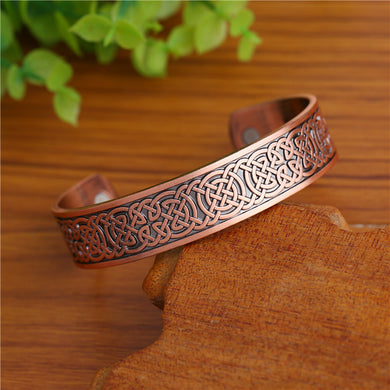 Celtic Knots Health Magnetic Cuff Bracelet