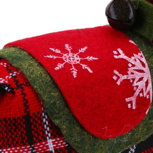 1PC Tartan Christmas Ornaments