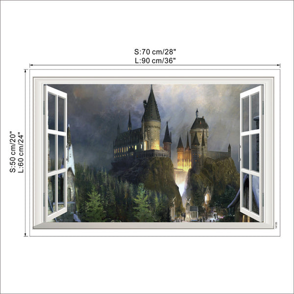 3D Magic Harry Potter Wall Stickers