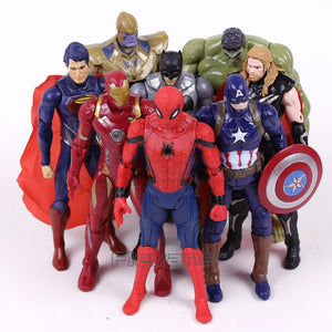 16 cm 8pcs set of Marvel Superheroes Figures