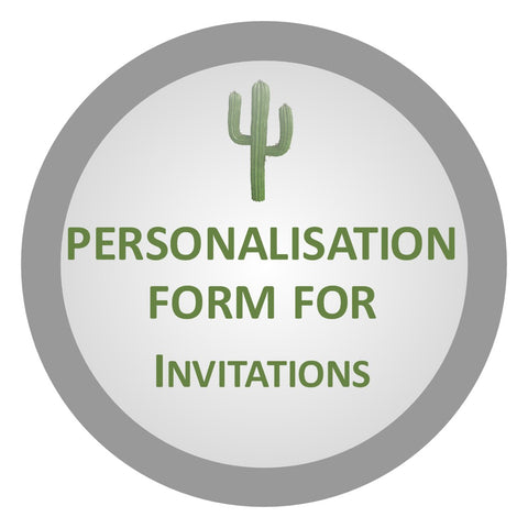 personalisation form for invitations