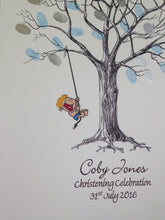 Christening Fingerprint Tree- Little Boy