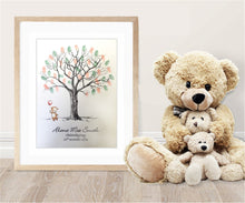 Christening Fingerprint Tree- Bear and Balloon