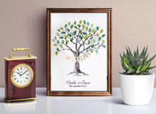Wedding Fingerprint Tree- Bunting