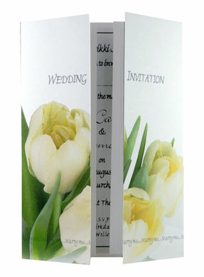 Cream Tulips Wedding Invitations