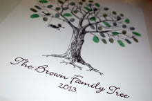 Family Fingerprint Tree- Nest with Eggs