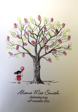Christening Fingerprint Tree- Little Girl