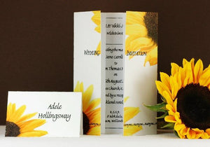 Sunflower Wedding Invitation On Gatefold Card