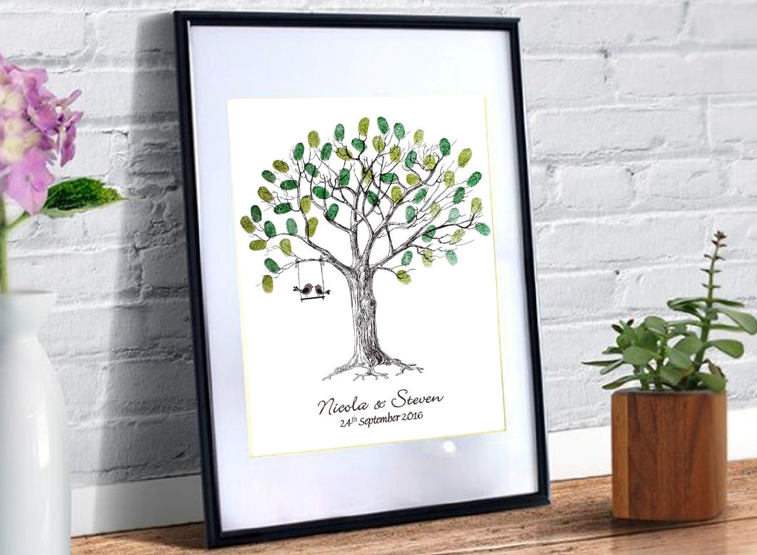Wedding Fingerprint Tree- Love Birds