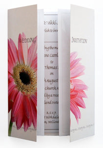Pink Gerbera Wedding Invitations